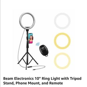 """10"""" Selfie Ring Light with 59"""" Extendable Tripod"""